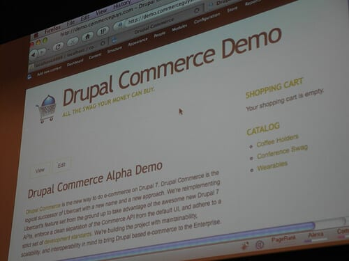 Drupal eCommerce demonstration
