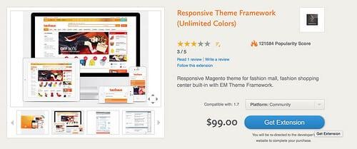 Magento responsive theme framework extension