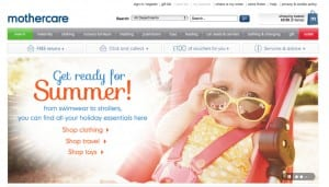 Mothercare is powered by Magento