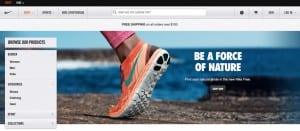 http://www.nikestore.com.au uses large images as part of its Magento design to show off its products in great detail.